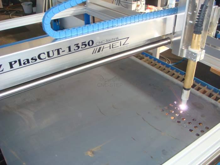 Découpe au plasma avec la machine CNC