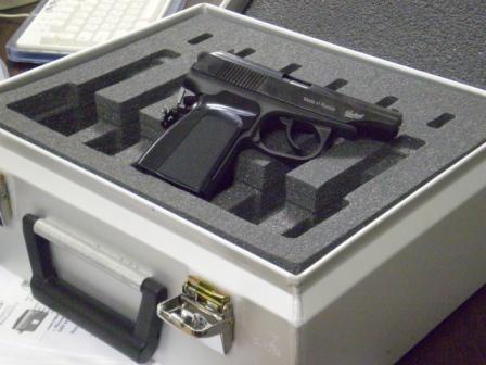 Fraisage de l'insert en mousse pour armes