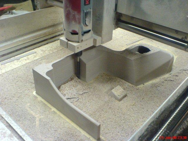 Fraisage du noyau de sable