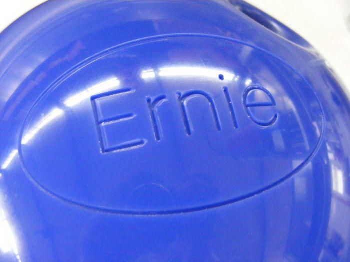 Gravure ronde sur boule de bowling