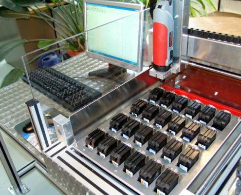 Perçage des cartouches d'imprimante