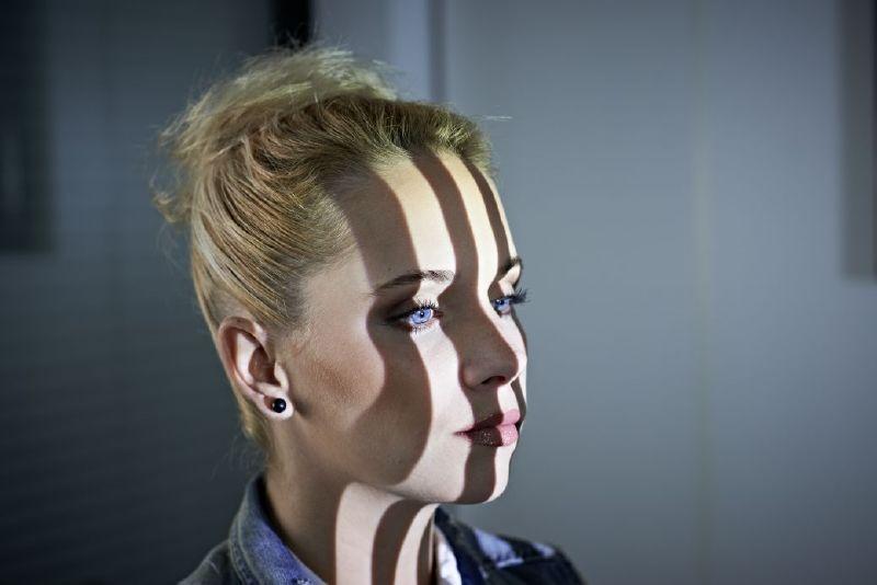 balayage 3D bande de lumière en face modèle