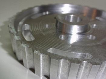 Fraisage d'une roue en aluminium